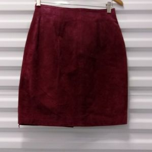 Leather By Gianni Purple Suede Mini Skirt Size 7/8